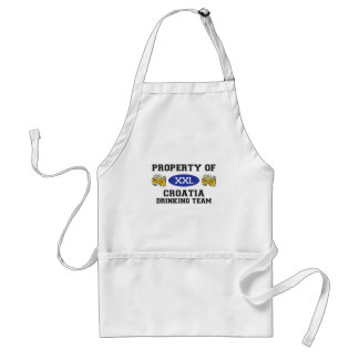 Property of Croatia Drinking Team Standard Apron