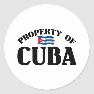 Property Of Cuba Classic Round Sticker