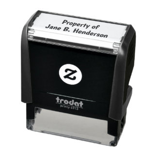 Property of Custom Text Self-inking Stamp