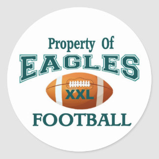 Property of Eagles Round Sticker
