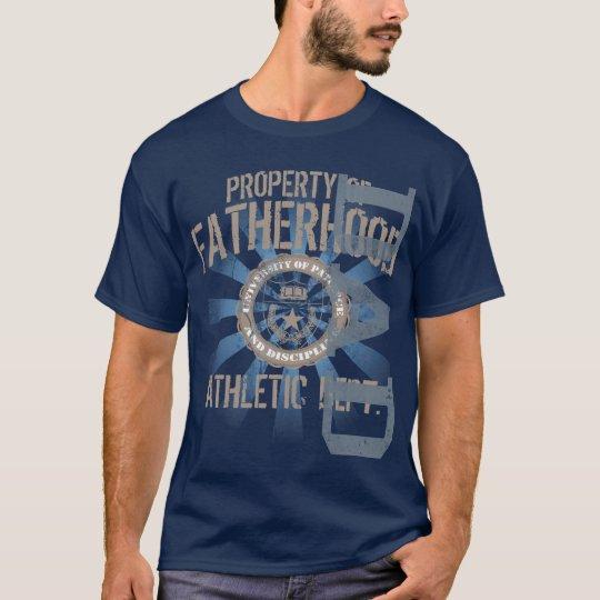Property of Fatherhood Athletic Dark T-Shirt