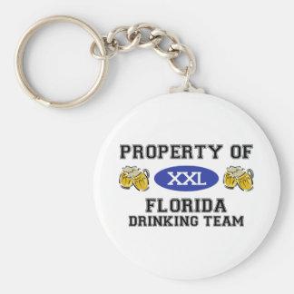 Property of Florida Drinking Team Keychain