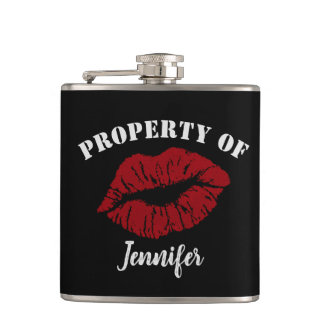 Property of - funny boyfriend flask