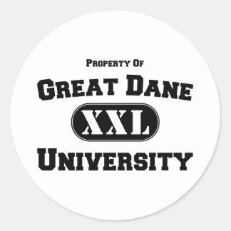 Property of Great Dane University Classic Round Sticker