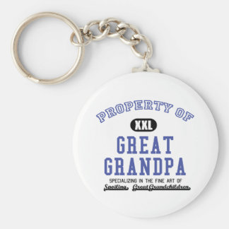 Property of Great Grandpa Keychain