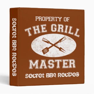 Property of Grill Master Recipe Binder