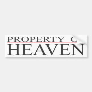 Property of Heaven Bumper Sticker