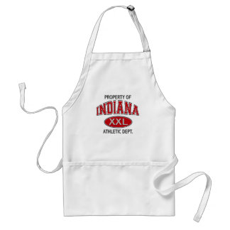 PROPERTY OF INDIANA ATHLETIC DEPT STANDARD APRON