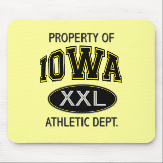 PROPERTY OF IOWA ATHLETIC DEPT MOUSE PAD