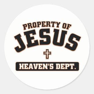 Property of Jesus Round Sticker