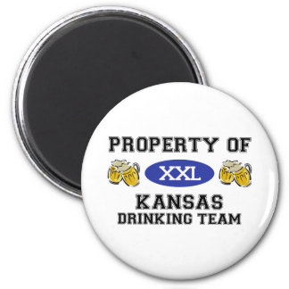 Property of Kansas Drinking Team Magnet