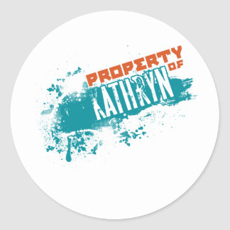 Property Of Kathryn.png Round Sticker