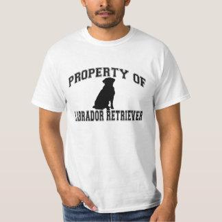 Property of Labrador retriever words w/silhouette Tee Shirt