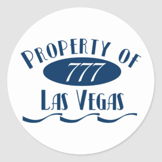 Property of Las Vegas Classic Round Sticker