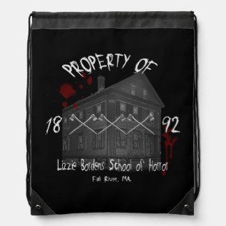 Property of Lizzie Borden's School of Horror Cinch Bags