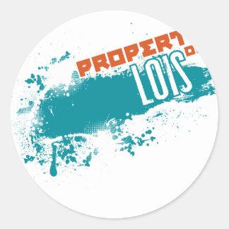 Property of Lois Round Sticker