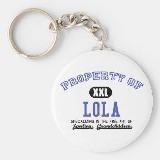 Property of Lola Basic Round Button Keychain