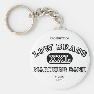 Property of Low Brass Basic Round Button Keychain