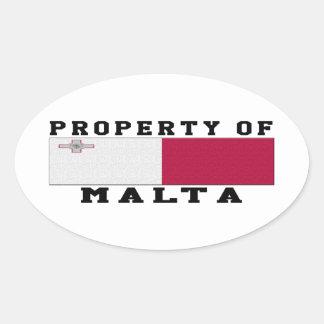 Property Of Malta Oval Sticker