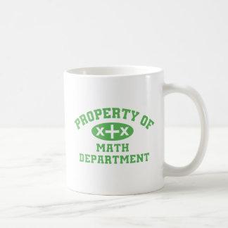 Property Of Math Department (green) Mug