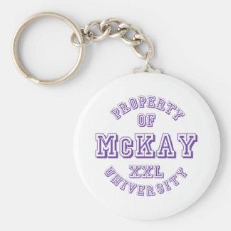 Property of McKay University Basic Round Button Keychain