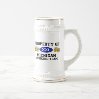 Property of Michigan Drinking Team Beer Stein