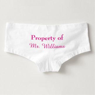 Property of Mr. Panties in pink