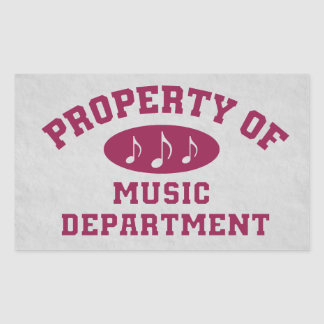 Property Of Music Department