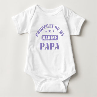 Property Of My Marine Papa Baby Bodysuit