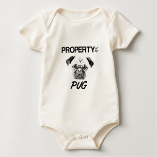 Property of my Pug Baby Bodysuit