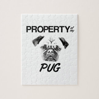 Property of my Pug Jigsaw Puzzle