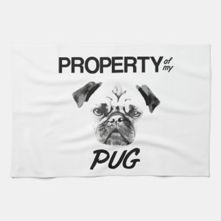 Property of my Pug Kitchen Towels