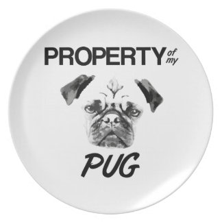 Property of my Pug Plate