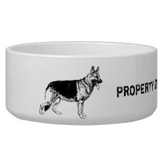 Property of my shepherd dog bowl