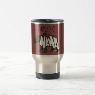 Property of Nana Bear- Custom Travel Mug
