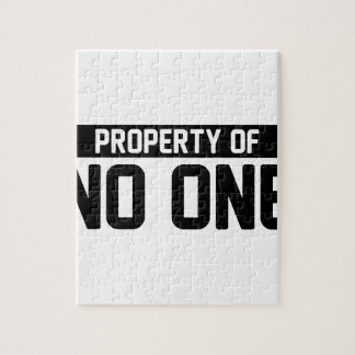 Property of No One Jigsaw Puzzle