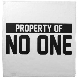Property of No One Napkin