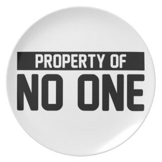 Property of No One Plate