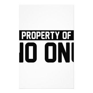 Property of No One Stationery