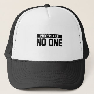 Property of No One Trucker Hat