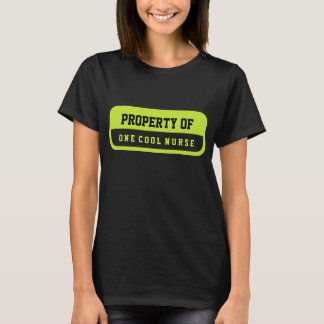 Property of One Cool Nurse Chartreuse Black Shirt