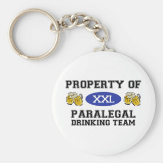 Property of Paralegal Drinking Team Keychain