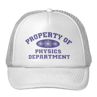 Property Of Physics Department Cap Trucker Hat