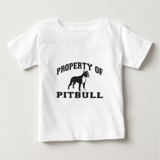 """Property of Pit Bull"" words with graphic Baby T-Shirt"