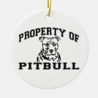 Property of Pitbull Ceramic Ornament