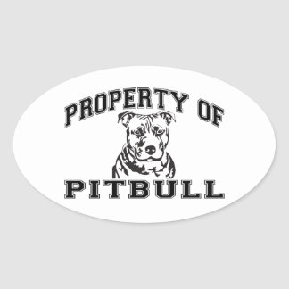 Property of Pitbull Oval Sticker
