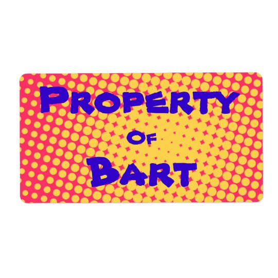 Property Of... PopArt Stickers Shipping Label