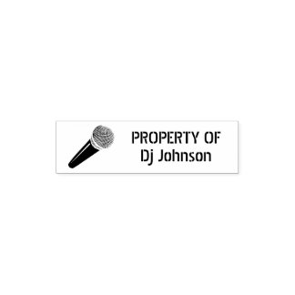 PROPERTY OF Self inking stamp with microphone