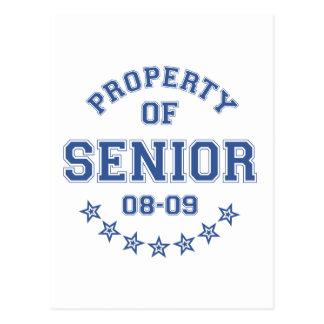 Property Of Senior Post Card