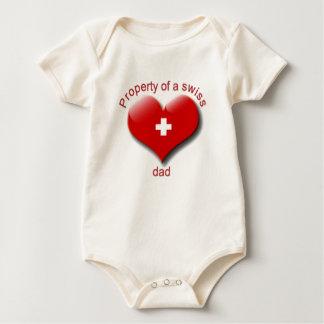 property of swiss dad baby bodysuit